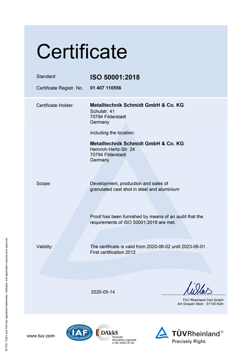MTS-Certificate ISO-50001-2018 valid to 01/06/2023