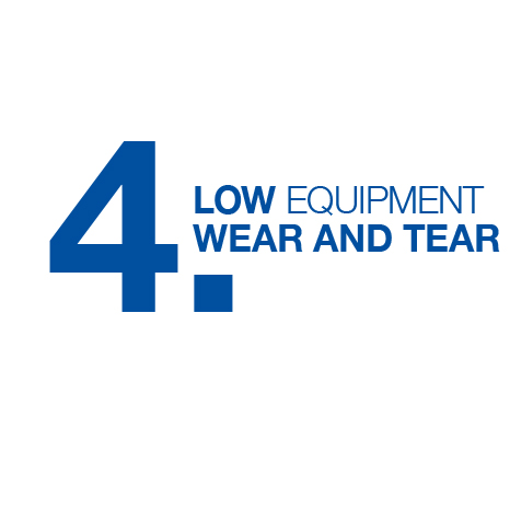 Lower plant wear and tear